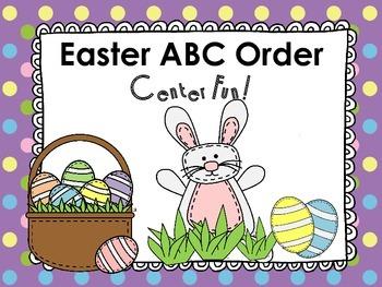 Easter ABC Order Center Fun!
