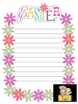 Easter Activities - Spring - Clip Art - Frames - Writing p