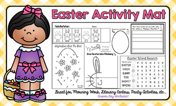 Easter Activity Mat - A Page FULL Of Easter and Spring Act