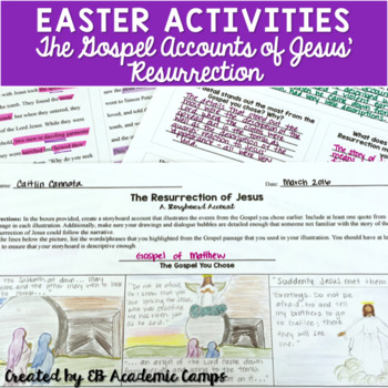 Easter Activity for Middle School (Grades 5-8)