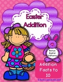 Easter Addition: Math Centers Facts to 10