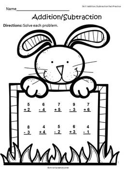 Easter - Addition and Subtraction Practice