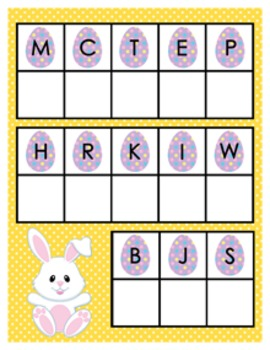 Easter Alphabet Matching Activity