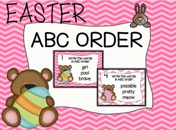 Easter BEARS ABC Order Task Cards