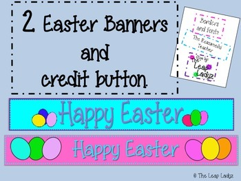 Easter Banners for TPT Store