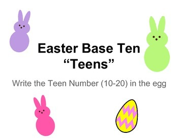 "Easter Base Ten ""Teens"""