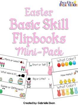 Easter Basic Skill Flipbooks FREEBIE!