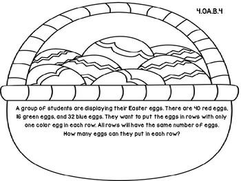 Easter Basket 4th Grade Common Core Open Ended Assessment