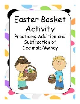 Easter Basket Decimals / Money Activity