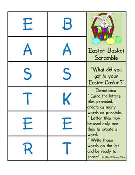 Easter Basket Scramble