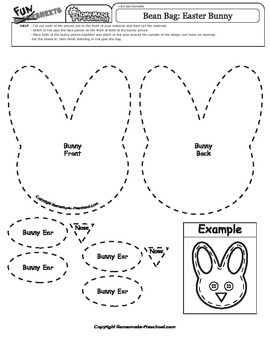 Easter Bean Bag Pattern: Easter Bunny