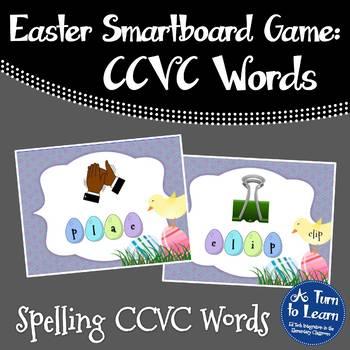 Easter Beginning Blends: Spelling CCVC Words for Smartboar