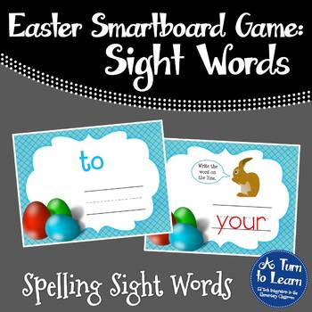 Easter Sight Words Smartboard or Promethean Board Game: Fr