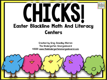 Easter Blackline Math And Literacy Centers!  Chicks!