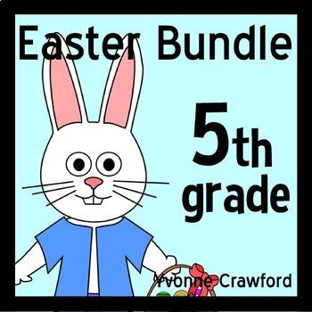 Easter Bundle for Fifth Grade Endless