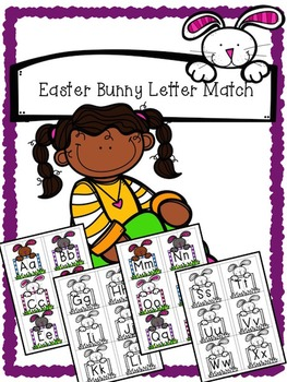 Easter Bunny Alphabet Matching - Upper case and Lower case