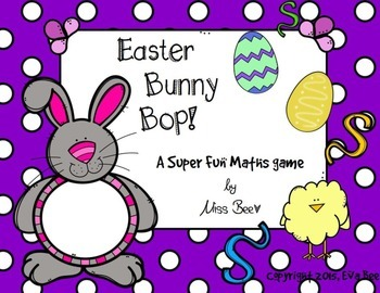 Easter Bunny Bop Maths Center Game