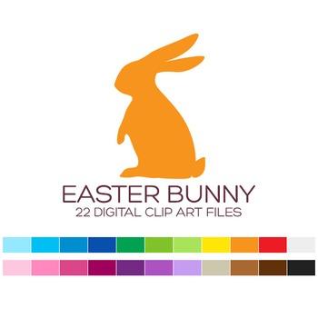 Easter Bunny Clipart - 22 digital Easter bunnies / 2x3 inc