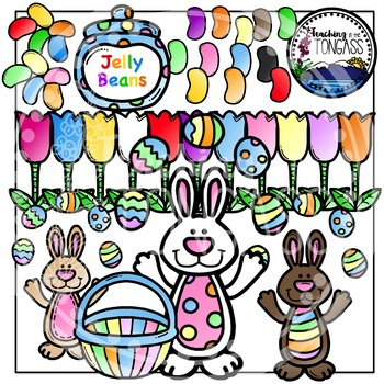 Easter Bunny Clipart Bundle