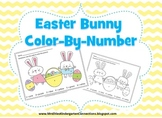 Easter Bunny Color By Number Freebie