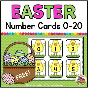 Easter Number Flashcards 0-20