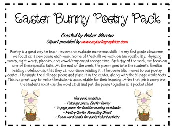 Easter Bunny Poetry Pack