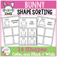 Easter Bunny Shape Sorting Mats