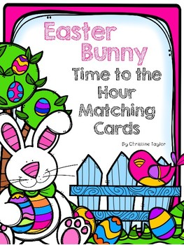 Easter Bunny Time to the Hour Matching Cards (Digit, Analo