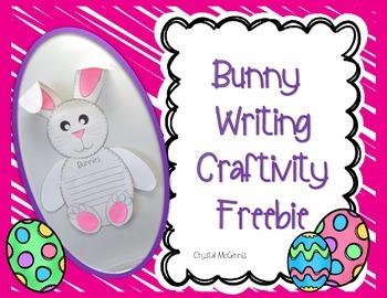 Easter Bunny Writing Craftivity FREEBIE
