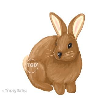 Easter Bunny clip art, Rabbit clip art Printable Tracey Gu