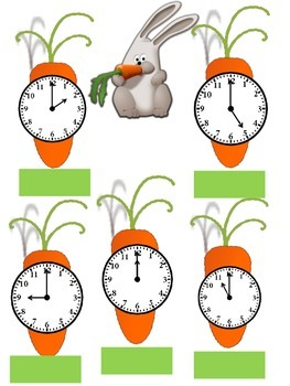 Easter Carrot Clocks