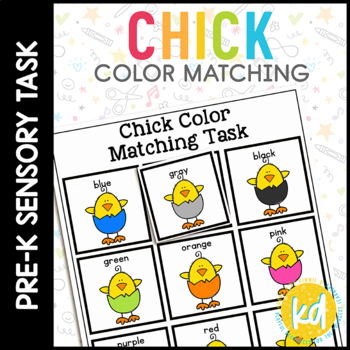 Easter Chick Color Match Folder Game for Early Childhood S