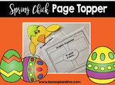 Easter Chick Page Topper