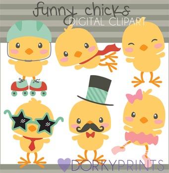 Chicks Digital Clip Art - Spring Clip Art