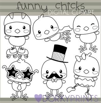 Easter Chicks Digital Clip Art - Spring Clip Art