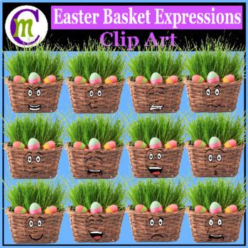 Easter Clip Art   Easter Basket Emotions Clipart