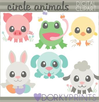 Easter Clip Art - Spring Circle Animals