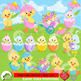 Easter Clipart, Easter Chicks Clipart, Bird Clipart AMB-1200