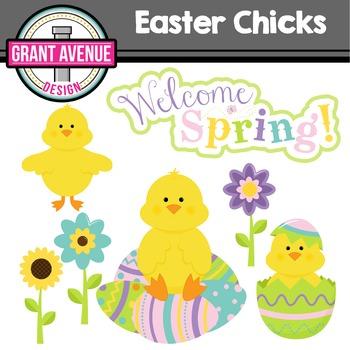 Easter Clipart - Easter Chicks - Easter Eggs