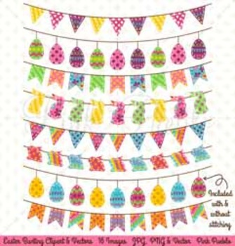 Easter Clipart, Easter Clip Art, Easter Bunting Clipart, E