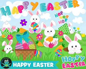 Easter Clipart, Instant Download, Commercial Use - UZ880