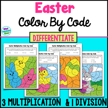 Easter  Math - Differentiate 3 Multiplication & 1 Division