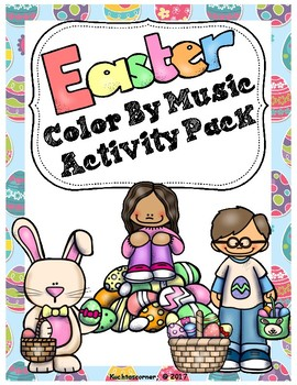 Easter Color By Music Activity Packet:  PDF Worksheet Collection
