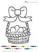 Easter Color by Number Coloring Pages