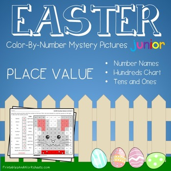 Easter Color-By-Number: Place Value (K-2)