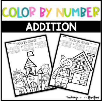 Easter Color by Number- Addition to 5