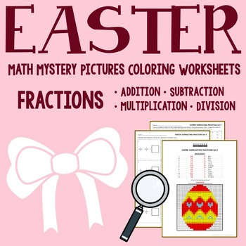 Easter Coloring Worksheets - Fractions