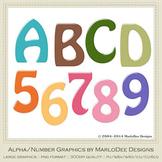 Easter Colors 2011 Candy Mix Colors Alphabet Letter & Numb