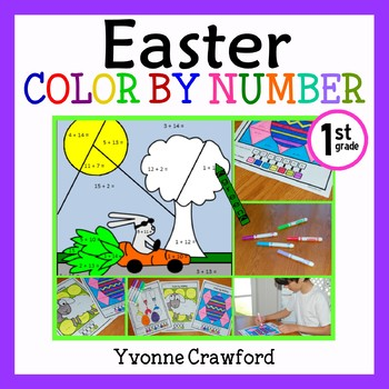 Easter Color by Number (first grade)  Color by Addition an