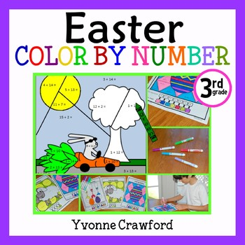 Easter Color by Number (third grade) Color by Multiplicati